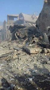 Les 1ères photos de l'installation de recherche scientifique de Barzah détruite par des frappes de missiles de croisière Us, GB et français1