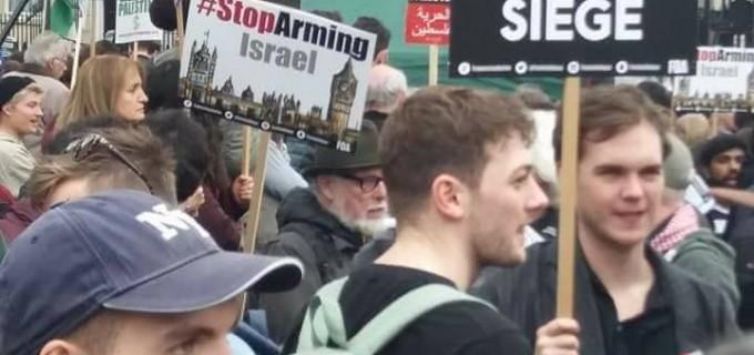 Photos prises lors d'une manifestation en soutien à la Palestine hier