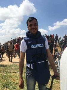 Yasser Mortaja, un cameraman palestinien a été abattu par des tireurs d'élite israéliens 1