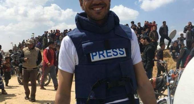 Yasser Mortaja, un cameraman palestinien a été abattu par des tireurs d'élite israéliens