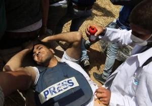 Yasser Mortaja, un cameraman palestinien a été abattu par des tireurs d'élite israéliens 2