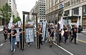 Des manifestations à Washington D.C. rejetant le transfert de l'ambassade américaine à Jérusalem2