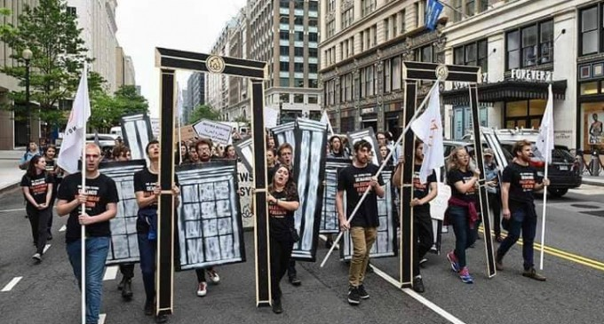 Des manifestations à Washington D.C. rejetant le transfert de l'ambassade américaine à Jérusalem