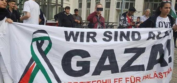 Les manifestants pro-Palestiniens se rallient à vienne, en Autriche, pour soutenir la bande de Gaza.