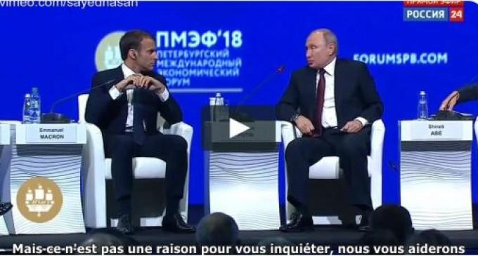 Poutine à Macron : » N'aie pas peur de Trump, Emmanuel, la Russie protégera l'Europe ! «