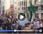 Les espagnoles scandent : «Free Free Palestine»