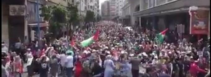 C'est ainsi que les marocains ont soutenu le peuple palestinien à la suite du massacre israélien à Gaza le 14 Mai