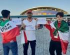 En images, les supporters iraniens présents au Mondial Russe disent STOP A LA GUERRE CONTRE LE YÉMEN