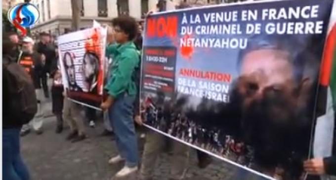 Regardez comment les français ont accueillis le criminel de guerre Netanyahu !!