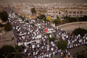 Des milliers de personnes manifestent à Sanaa, au Yémen, pour soutenir la cause palestinienne3