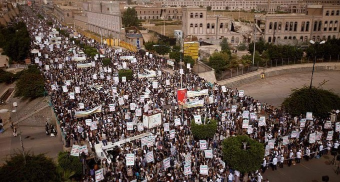 Des milliers de personnes manifestent à Sanaa, au Yémen, pour soutenir la cause palestinienne