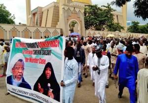 Les manifestants nigérians à Abuja appellent à la libération de l'éminent clerc Sheikh Zakzaky3