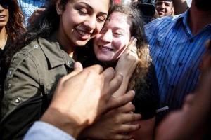 L'icône de la Résistance palestinienne Aheed Tamimi est libérée des prisons israéliennes après 8 mois de détention, aujourd'hui.4