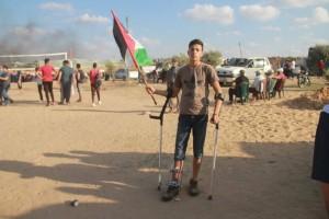 Malgré leurs blessures, ces palestiniens sont revenus .2