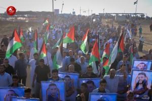 Photos des manifestations d'hier - la Grande Marche du Retour à la frontière de Gaza1