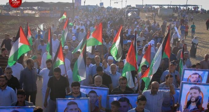 Photos des manifestations d'hier – la Grande Marche du Retour à la frontière de Gaza