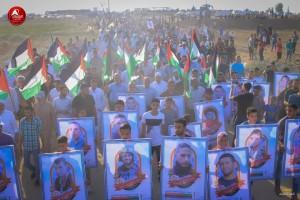 Photos des manifestations d'hier - la Grande Marche du Retour à la frontière de Gaza2