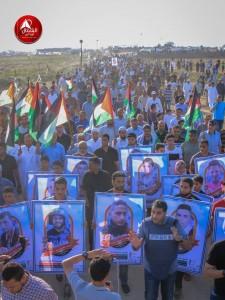 Photos des manifestations d'hier - la Grande Marche du Retour à la frontière de Gaza3