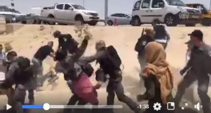 Regardez la sauvagerie des forces d'occupation avec les femmes palestiniennes…