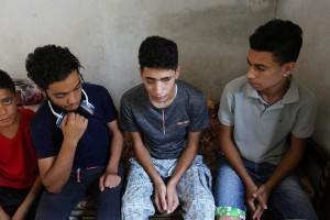 Saleh Ashour, un palestinien de Gaza, 16 ans, a perdu la vue après avoir été pris pour cible par les troupes israéliennes lors des manifestations de la Grande Marche du Retour.2