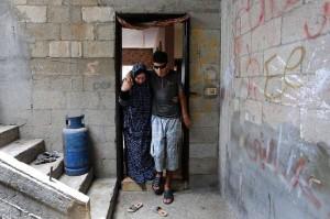 Saleh Ashour, un palestinien de Gaza, 16 ans, a perdu la vue après avoir été pris pour cible par les troupes israéliennes lors des manifestations de la Grande Marche du Retour.3