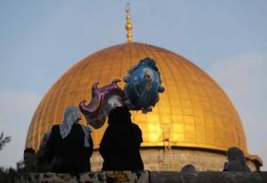 Atmosphère de l'Aïd à la mosquée Sainte d'Al Aqsa, Palestine2