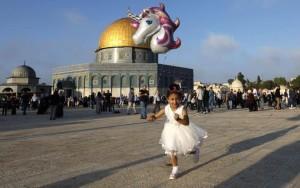Atmosphère de l'Aïd à la mosquée Sainte d'Al Aqsa, Palestine3