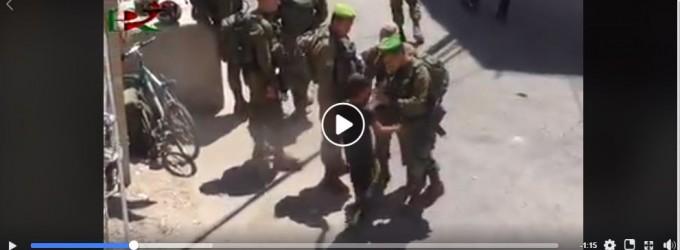 Les soldats de l'occupation israélienne ont agressé et maltraité des enfants palestiniens