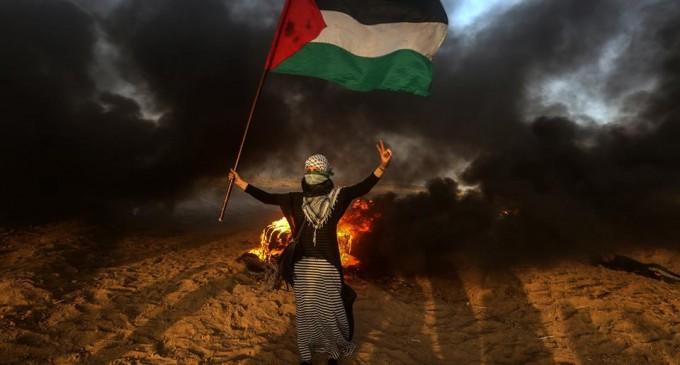Bien qu'elle ait manifesté pacifiquement à la frontière de Gaza, cette jeune femme palestinienne a été abattue et blessée par des snipers israéliens