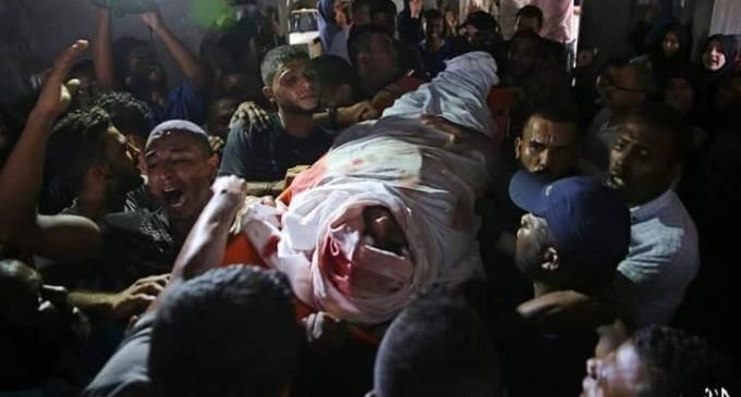 En un seul mois – août 2018, l'occupation israélienne a tuée 18 palestiniens dans la bande de Gaza assiégée et occupée en Cisjordanie.