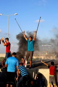 Les Palestiniens de Gaza se sont rendus mardi dans une manifestation de masse à la frontière nord, appelant à briser le siège.3