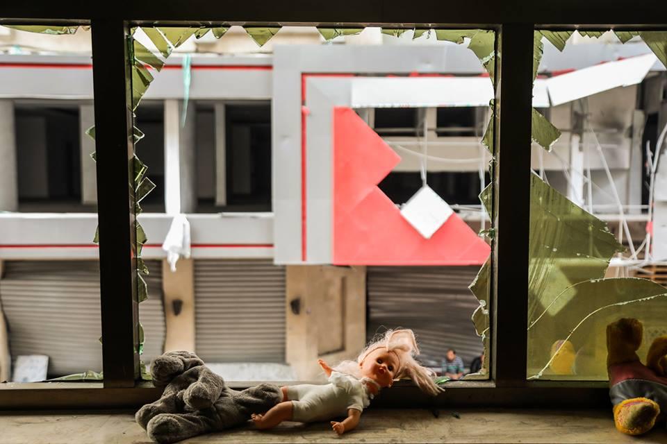 Le jardin d'enfants Shahed a été détruit par les bombardements israéliens sur un bâtiment résidentiel juste à côté de la maternelle la semaine dernière à Gaza14