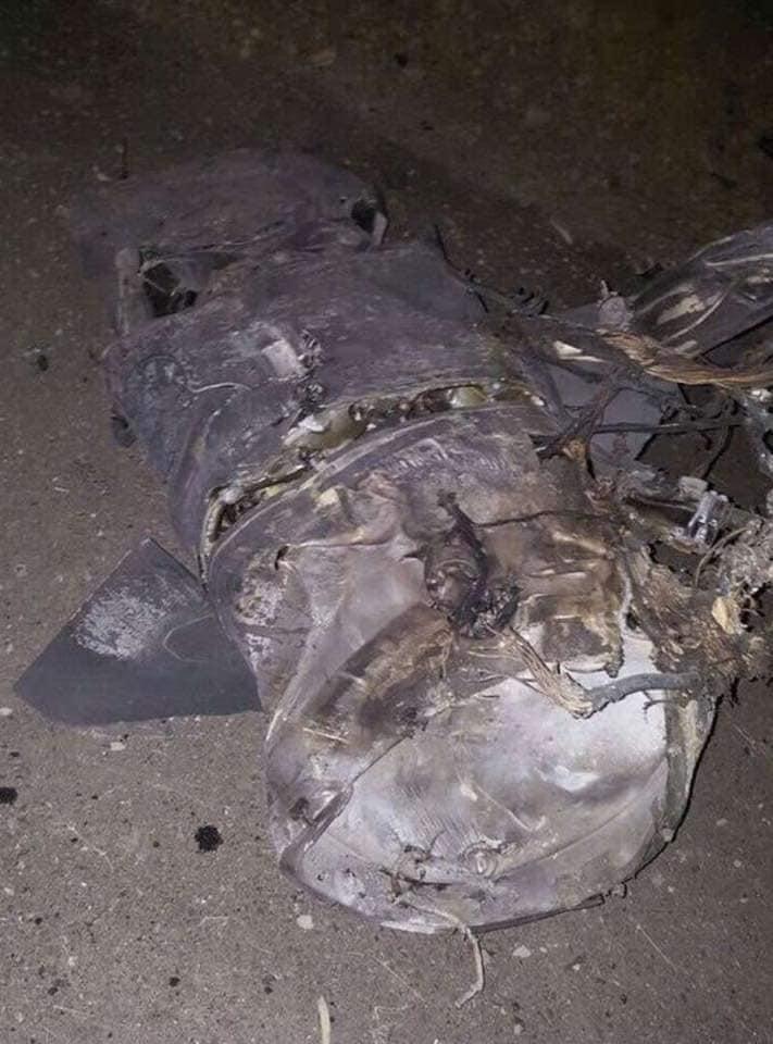 Ces qu'il reste des missiles israéliens après les avoirs interpellés par la DCA syrienne
