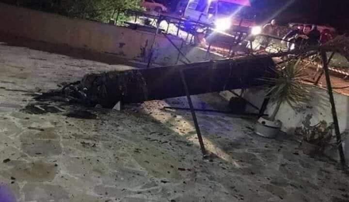 Ces qu'il reste des missiles israéliens après les avoirs interpellés par la DCA syrienne2