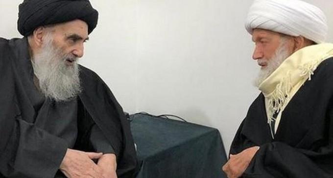L'Ayatollah Sistani rencontre le Cheikh Qassem du Bahreïn à Najaf