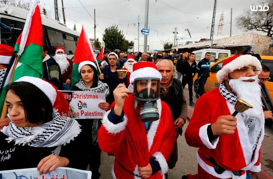 Les Palestiniens prennent part à un rassemblement à Bethléem, dans le sud de la Cisjordanie, pour protester contre les restrictions imposées par les mouvements israéliens, aujourd'hui.2