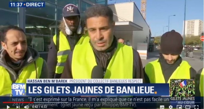 LA BANLIEUE AVEC LES GILETS JAUNES