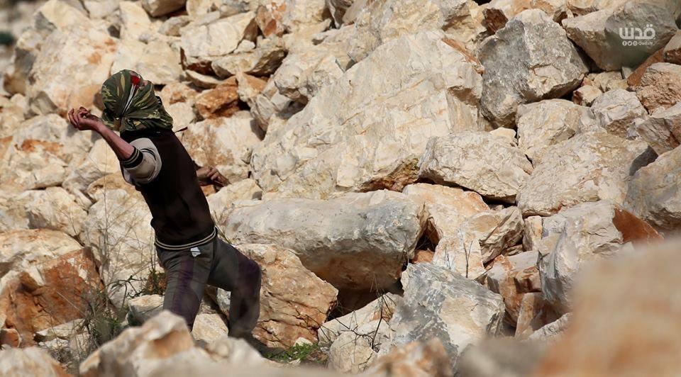 Scène d'affrontements d'aujourd'hui entre les forces d'occupation israéliennes et les manifestants palestiniens dans le village de Kafr Qaddoum dans la Cisjordanie occupée.1