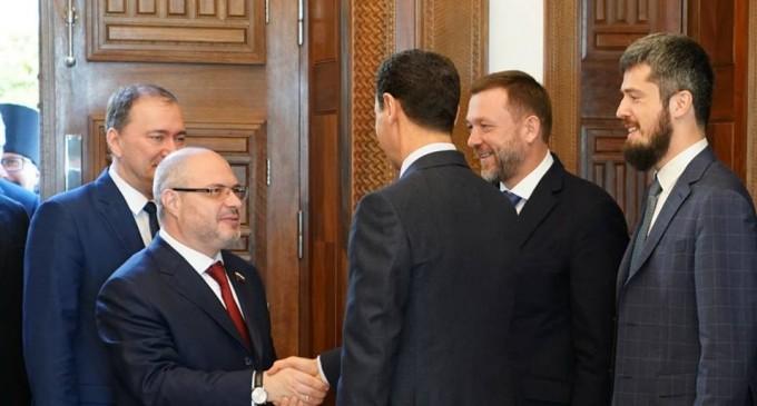 Hier, le président Bachar Al Assad a reçu une délégation russe, dirigée par Dimitri Sabline, membre de la Douma