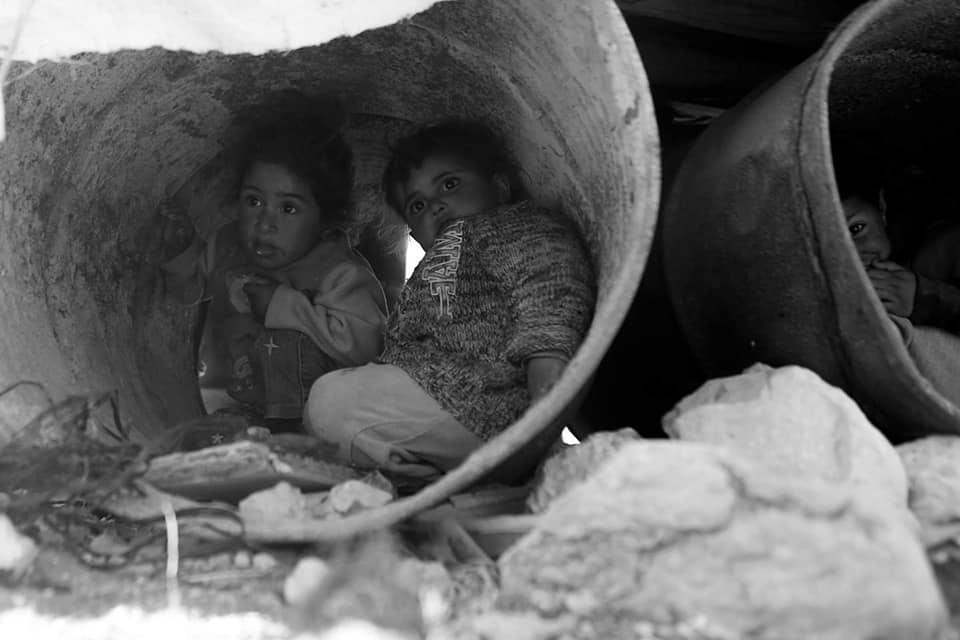 Les enfants palestiniens sans abri doivent faire face à une atmosphère froide d'hiver dans la région de la vallée du Jourdain, en Cisjordanie occupée.2