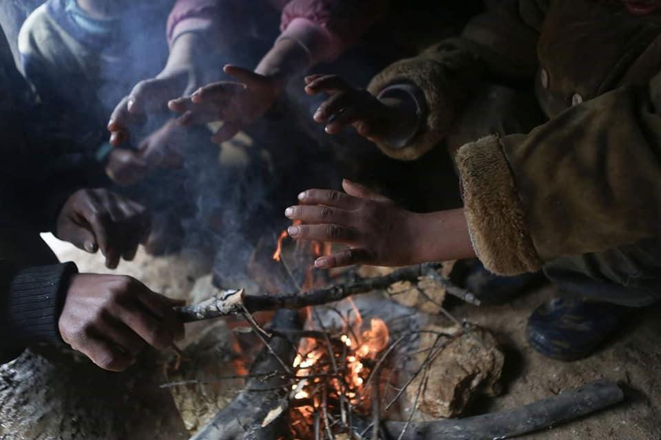 Les enfants palestiniens sans abri doivent faire face à une atmosphère froide d'hiver dans la région de la vallée du Jourdain, en Cisjordanie occupée.5