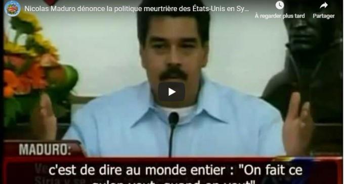 Nicolas Maduro dénonce la politique meurtrière des États-Unis en Syrie / 9 Septembre 2013