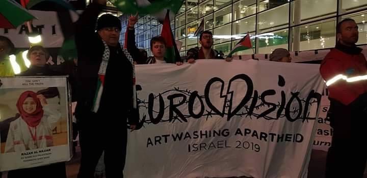 Des militants pro-Palestiniens se sont réunis devant la BBC Media City à Manchester3