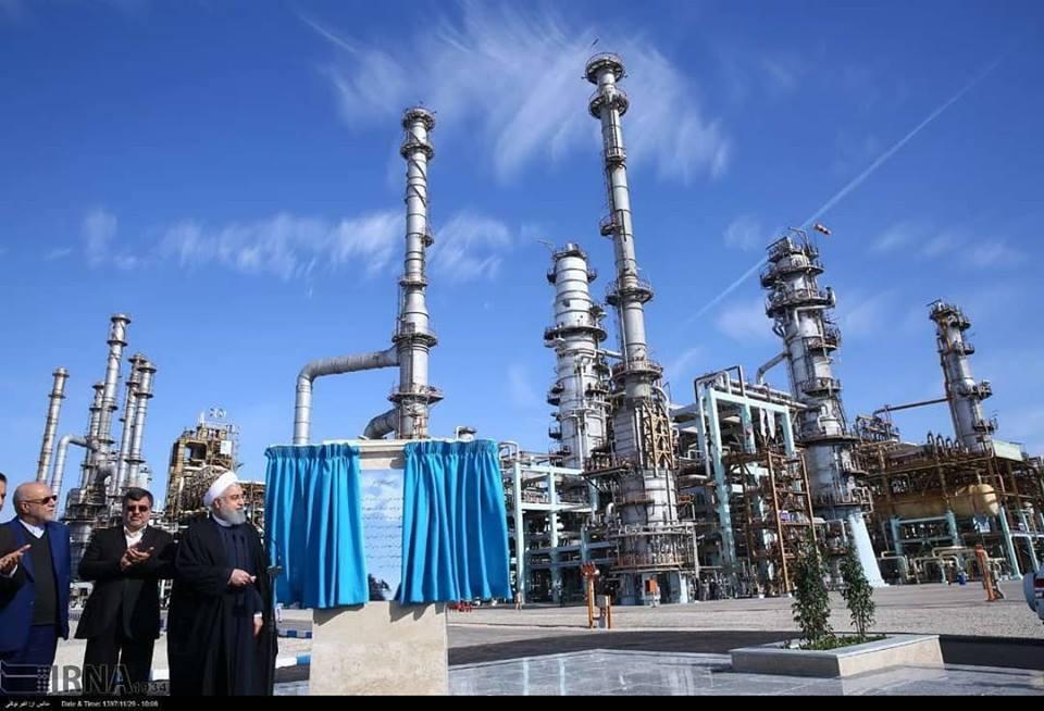 Hassan Rohani a inauguré la 3ème phase de la raffinerie de Setare Khalig Fars1