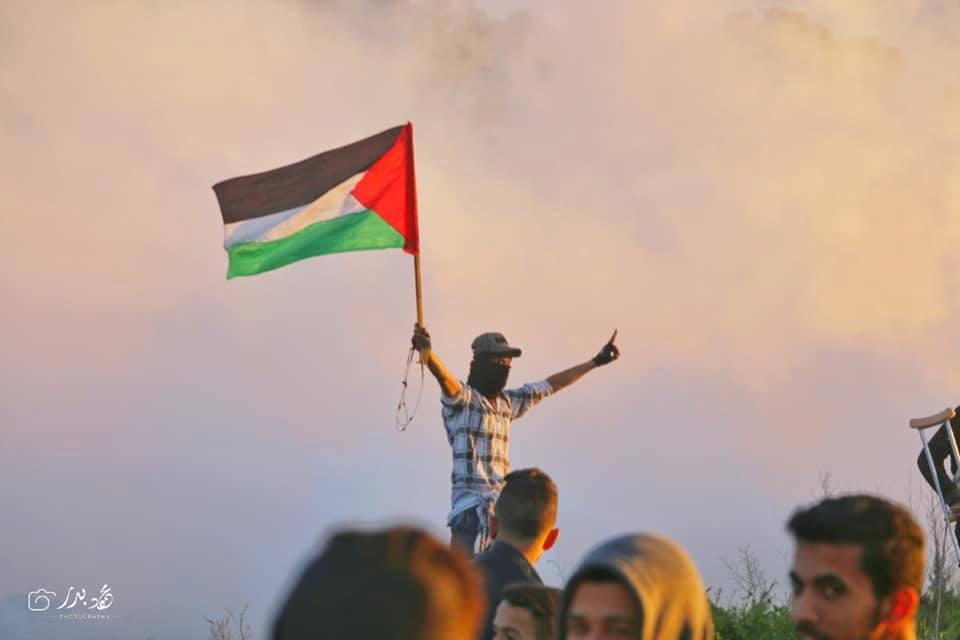 Photos de la Grande MArche du Retour de vendredi montrant de lourdes tirs de gaz lacrymogène sur les manifestants Palestiniens.3