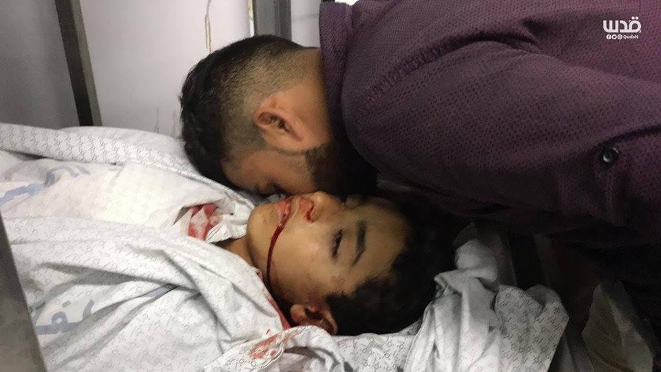 Un adieu au martyr Hassan Shalabi à Gaza1