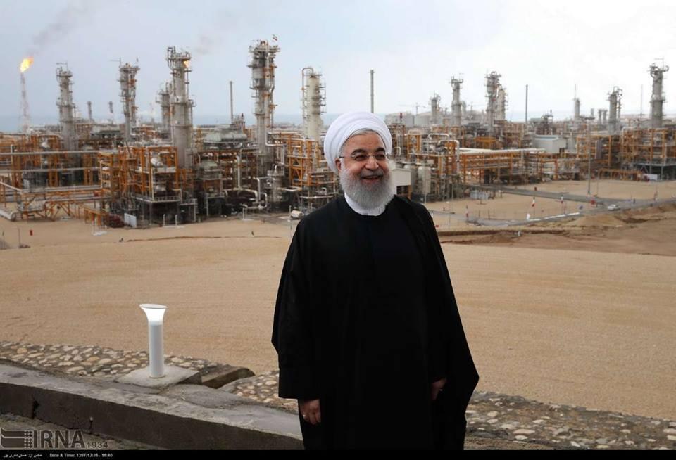 Le Président Rouhani a inauguré de nouvelles phases de Pars jenobi.2