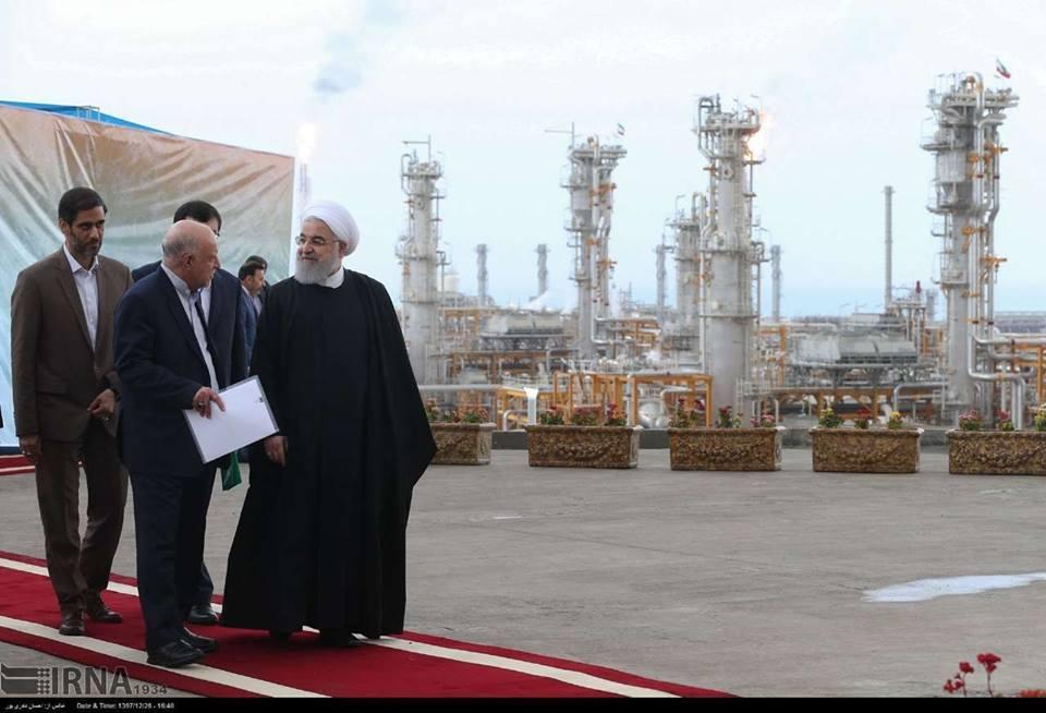Le Président Rouhani a inauguré de nouvelles phases de Pars jenobi.5