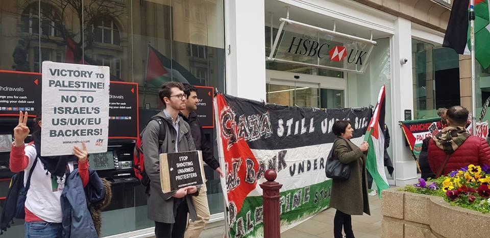 De nombreux anglais à Manchester ont défilé samedi en solidarité avec la Grande Marche du Retour à Gaza.1