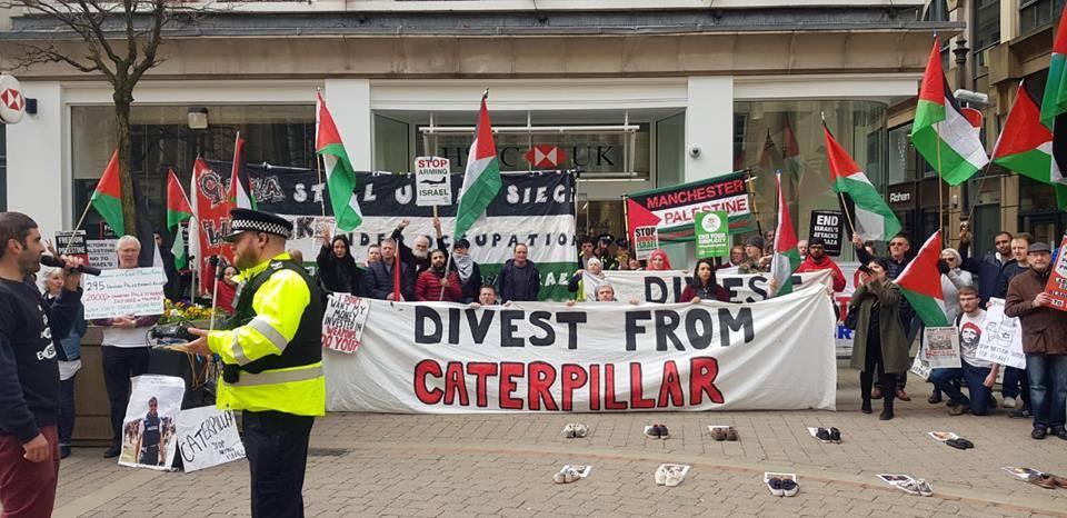 De nombreux anglais à Manchester ont défilé samedi en solidarité avec la Grande Marche du Retour à Gaza.3